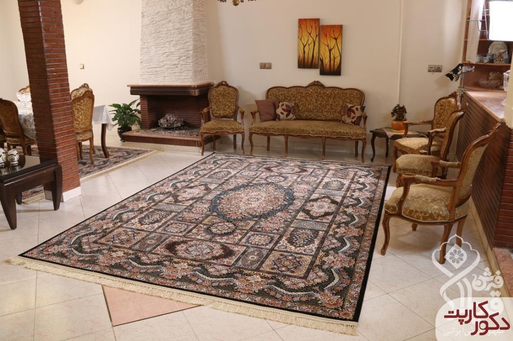 نمای فرش آیدا لاجوردی محصول شرکت قیطران