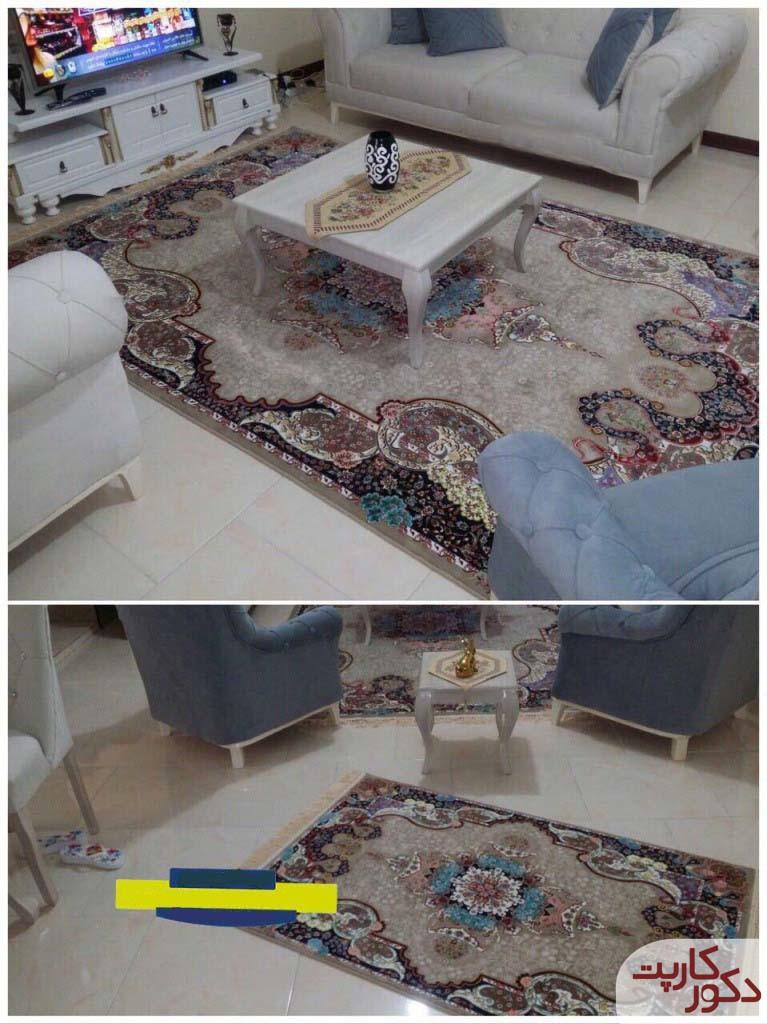 نمایی از فرش و قالیچه طرح الی یا اعجاز