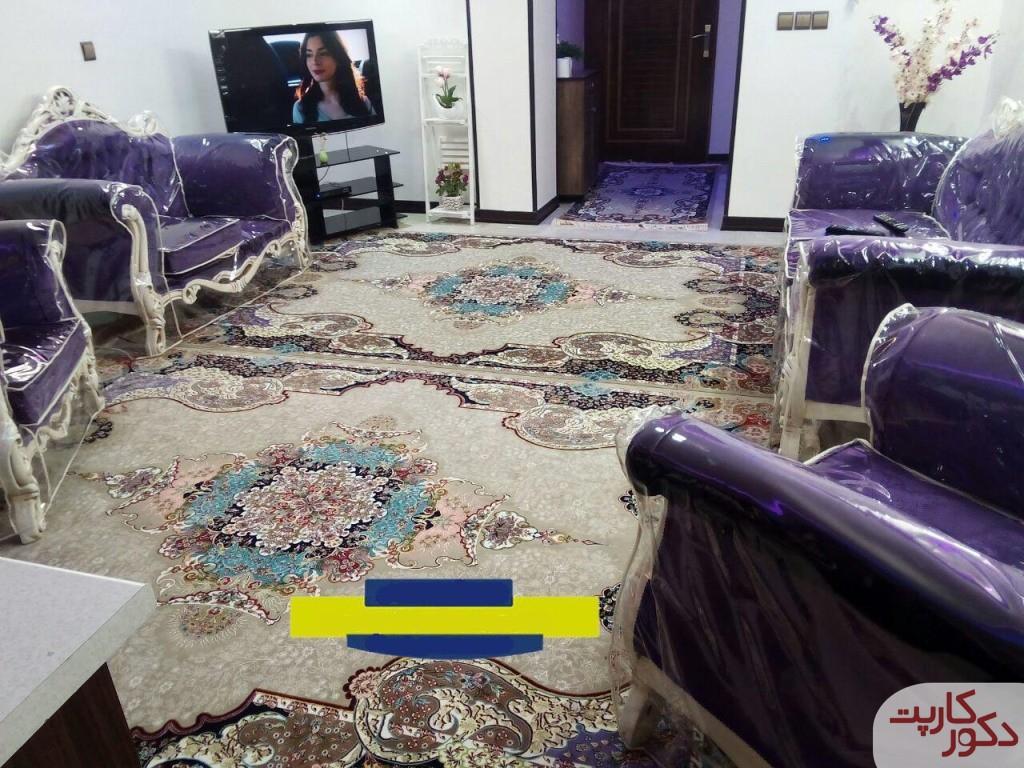 دکوراسیونی با قالیچه و فرش های طرح الی یا اعجاز ترمه ای