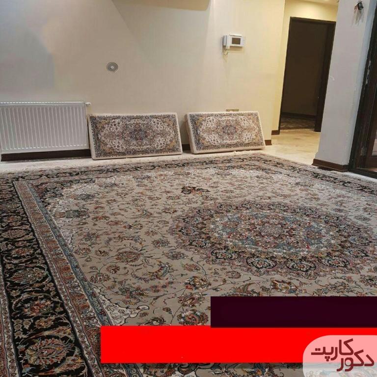 نمایی از فرش ۱۰۰۰ شانه طرح اصفهان ترمه ای