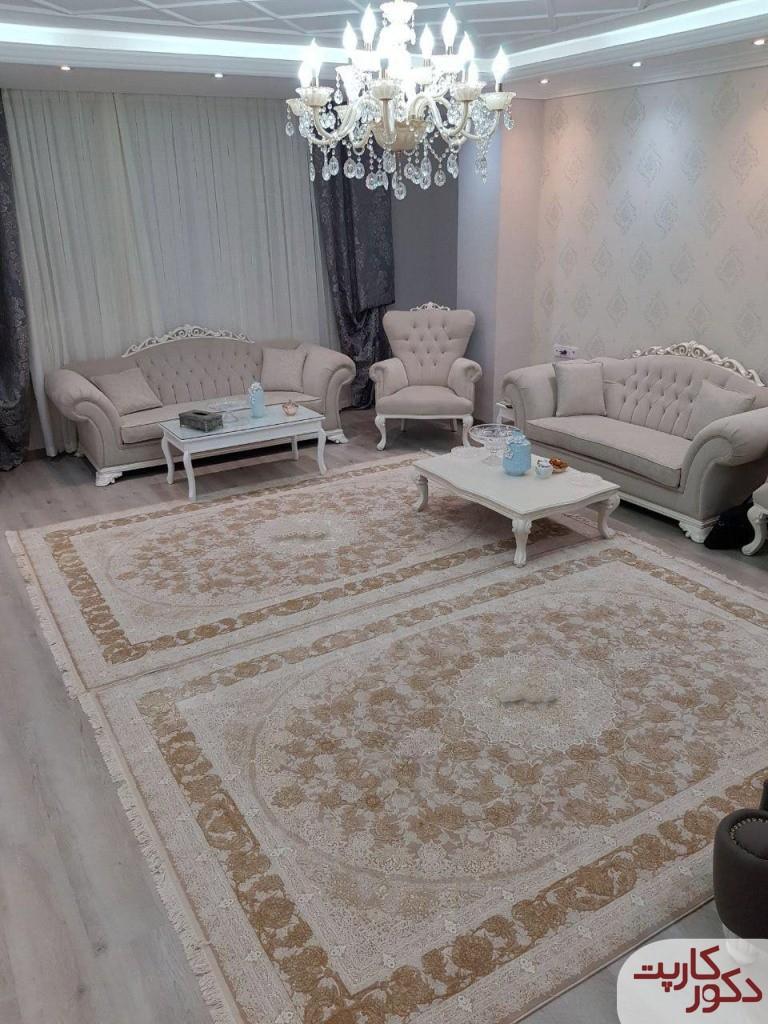 دکوراسیونی با فرش خاطره فیلی و مبلمان همرنگ فرش